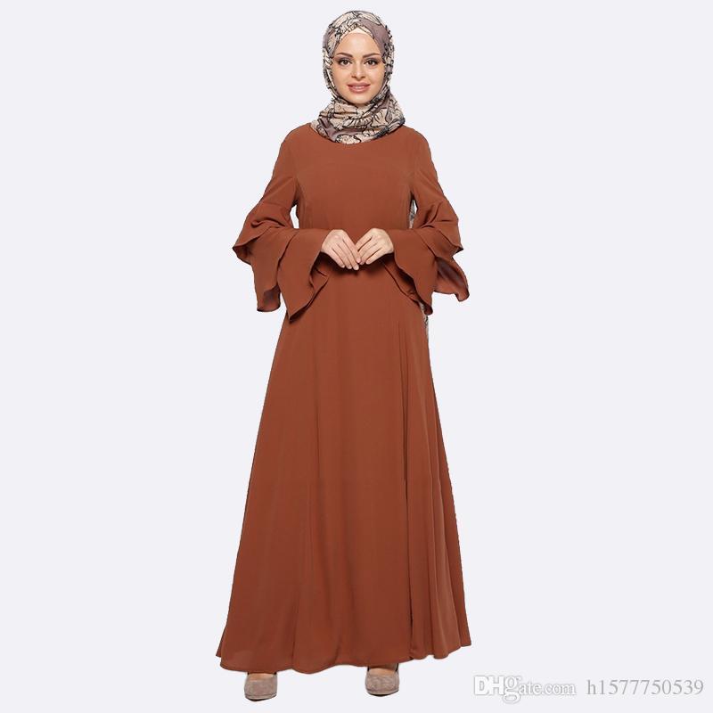 01b4fba4d3 Compre 2017 Nueva Ropa Abaya Turquía Ropa Árabe Túnica Turca Mujeres  Musulmanas Maxi Vestido De Fotos Islámica De Dubai Kaftan Vestido Longo  Giyim Ropa A ...