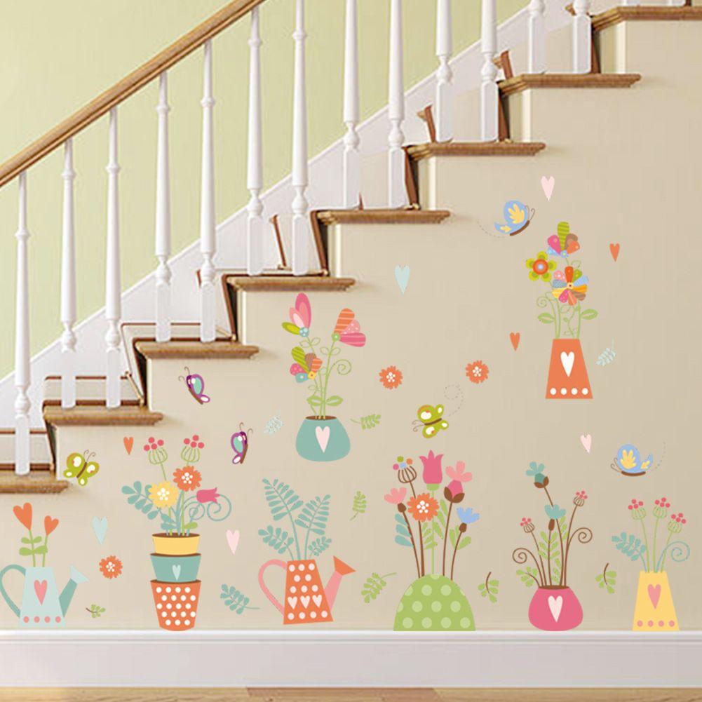 I Love You Flower Bear Fox rabbit Wild Animals Wall Sticker For Kids Bedroom Nursery Home Decor Decorative Mural Wallpaper