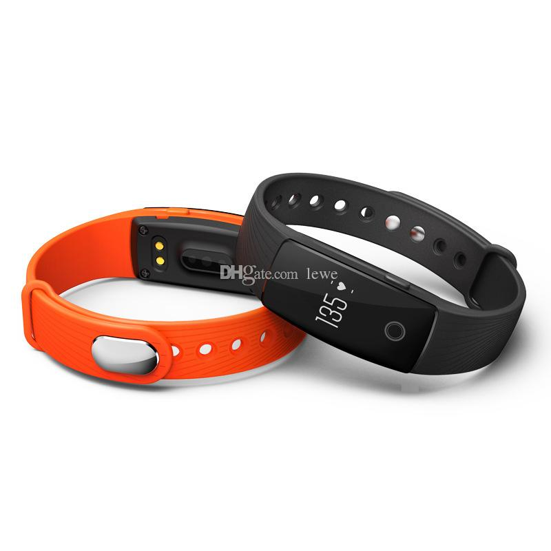 New Brand Smart Watch Veryfit ID107 Braclet 0.49 OLED heart rate monitor anti lost pedometer bluetooth bracelet smartwatch for Android iOS