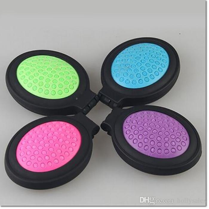 Venda quente portátil kit de maquiagem colorida kit pente migic com espelho para viagens ao ar livre para a menina mulheres dhl frete grátis