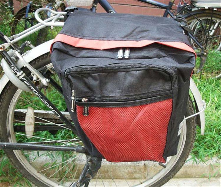 Preto Ciclismo Bicicleta Saddle Bag Sacos de Bicicleta PVC e Nylon À Prova D 'Água Dupla Face Traseira Rack de Assento Da Cauda Saco Pannier Acessórios Para Bicicletas