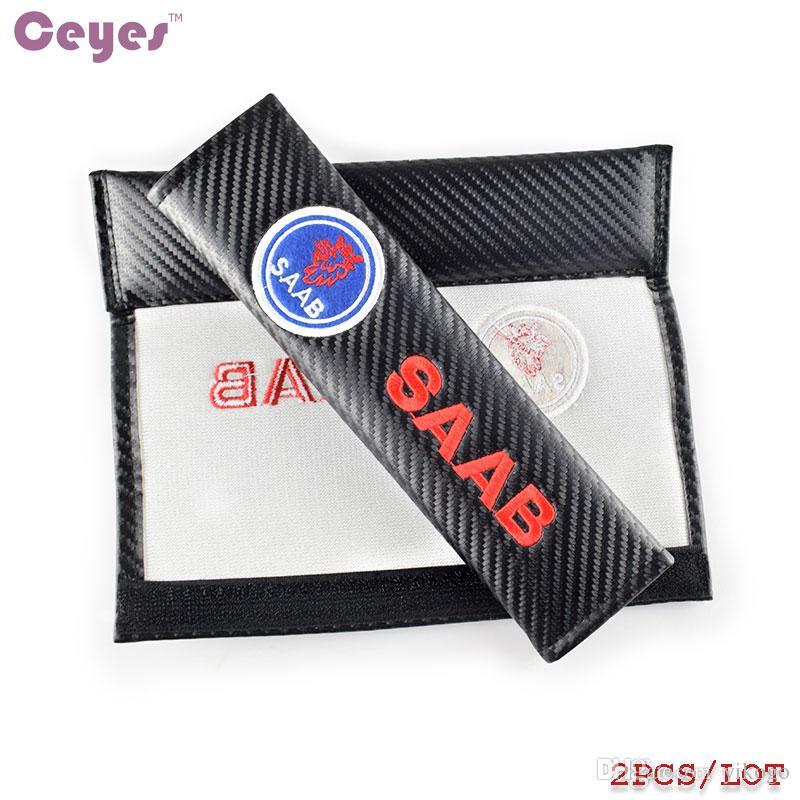 Couverture de ceinture de sécurité en fibre de carbone pour Saab 9-3 9-5 93 9-7x 95 9000