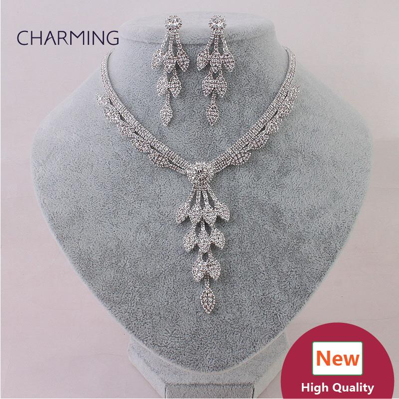 Costume Jewelry Necklaces And Earrings Bridal Jewelry Sets Imitation Jewellery Charms Style New Fashion Jewelry Wholesale Sellers Onli Bride Necklace Brides ... & Costume Jewelry Necklaces And Earrings Bridal Jewelry Sets Imitation ...