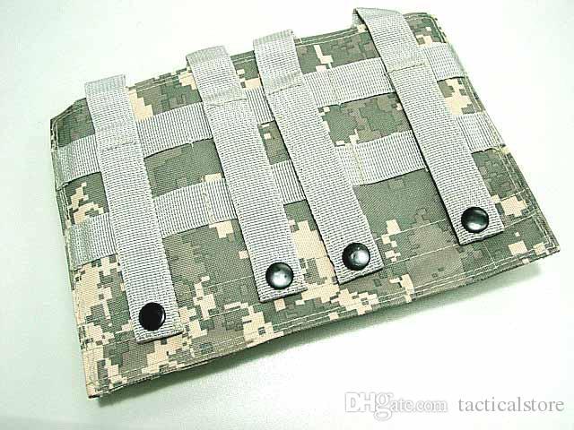 AR15 M4 5.56mm 매거진 포치 권총 권총 슈팅 조끼 도구 덤프 드롭 가방에 대한 사냥 Airsoft 몰리 전술 트리플 집어터 케이스