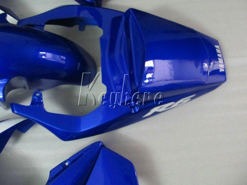 Aftermarket body parts fairing kit for YAMAHA R6 2003 2004 2005 blue white fairings set YZF R6 03 04 05 IY08