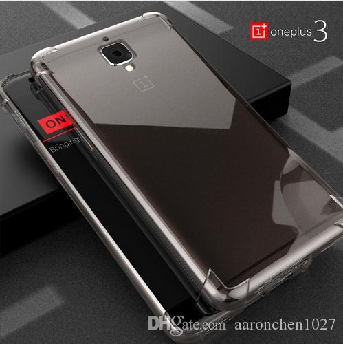 9d6934663 Roybens Anti Knock Oneplus 3 Cases Original Transparent Clear Cover For Oneplus  3 Silicone TPU Case For One Plus Three Soft Capa Cell Phone Wallet Cheap ...