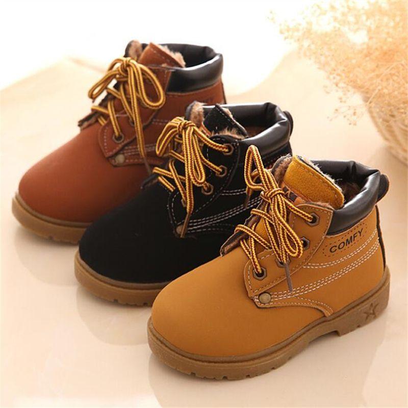 a283471b9f143 2017 Hot Sale Botas 2017 Designer Children S Snow Ankle Boots Warm Martin  Rubber British Cattle Autumn Little Girls Boys Winter Shoes Kids Cheap  Boots ...
