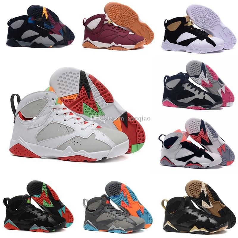 8e5e4421a76 High Quality Basketball Shoes 7 7s Men Women Purple UNC Bordeaux Olympic  Panton Pure Money Nothing Raptor Zapatos Trainer Sport Shoe Sneaker Jordans  Shoes ...