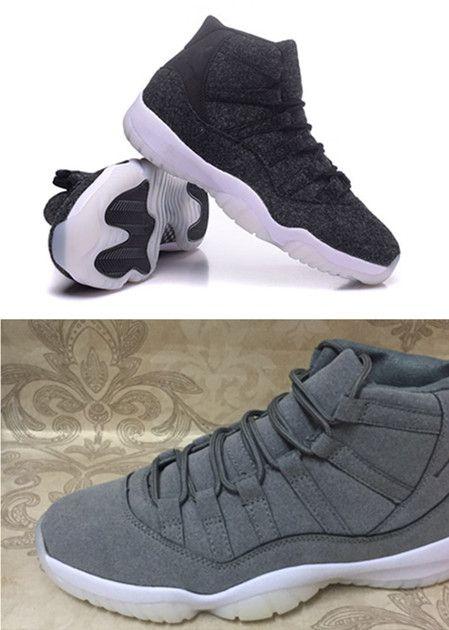 Drop Ship 2016 Air Retro 11 Grey Suede Man Basketball Shoes Retro 11 Wool  Sports Size Eur 41 47 Wholesale Basketball Trainers Basketball Shoes For  Sale From ...