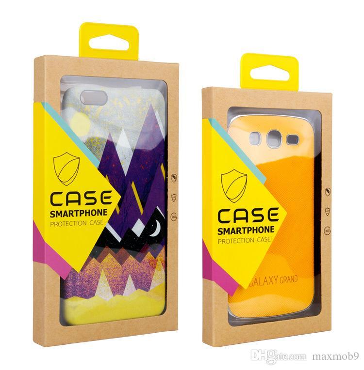 Mode universal generic kleinpaket box für iphone xs max xr x 6s 7 8 plus handy case kraftpapier box verpackung handy abdeckung