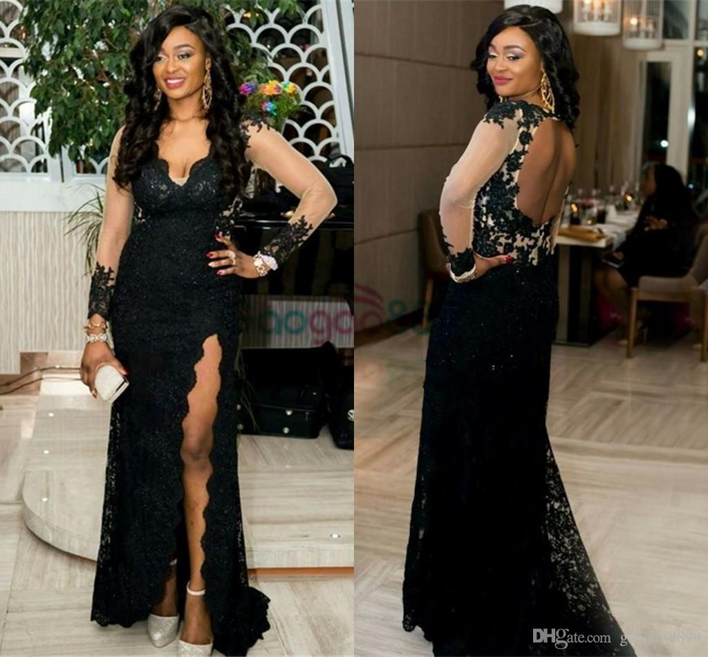 Watch - Lace black mermaid prom dresses video