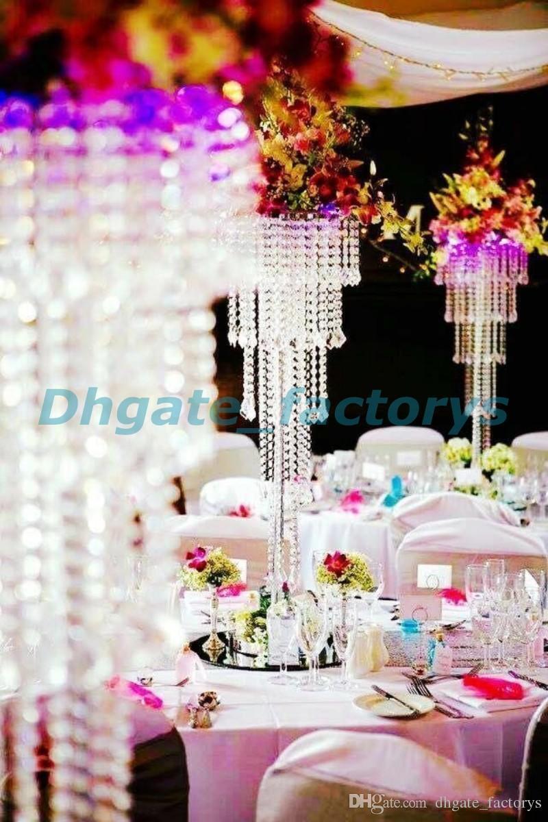 Acrylic Crystal Wedding Centerpiece Candlestick 100cm Tall 35cm Diameter 5 Tier Decor Road Leads Birthday Items For Kids