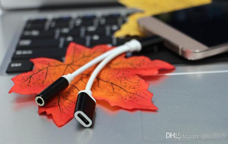 2 in 1 Kulaklık Ses Şarj Adaptörü Kablosu Konektörü için 3.5mm AUX Jack C Tipi-c Letv LeEco Le2