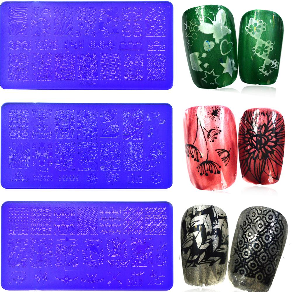 Wholesale Nail Art Templates New Acrylic Stamping Plates 12x6cm ...