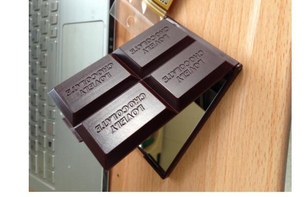 Мини Макияж Зеркала Симпатичные Шоколад Зеркало Косметические Компактные Зеркало Складные Портативные Зеркала Карманное Ручное Зеркало с Грессом Макияж Инструменты
