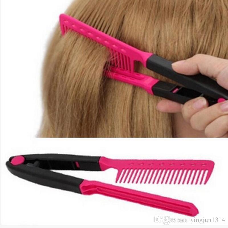 الأزياء الخامس نوع مستقيم الشعر مشط صالون تصفيف الشعر أداة تصفيف الشعر الضفائر فرشاة أمشاط شحن مجاني