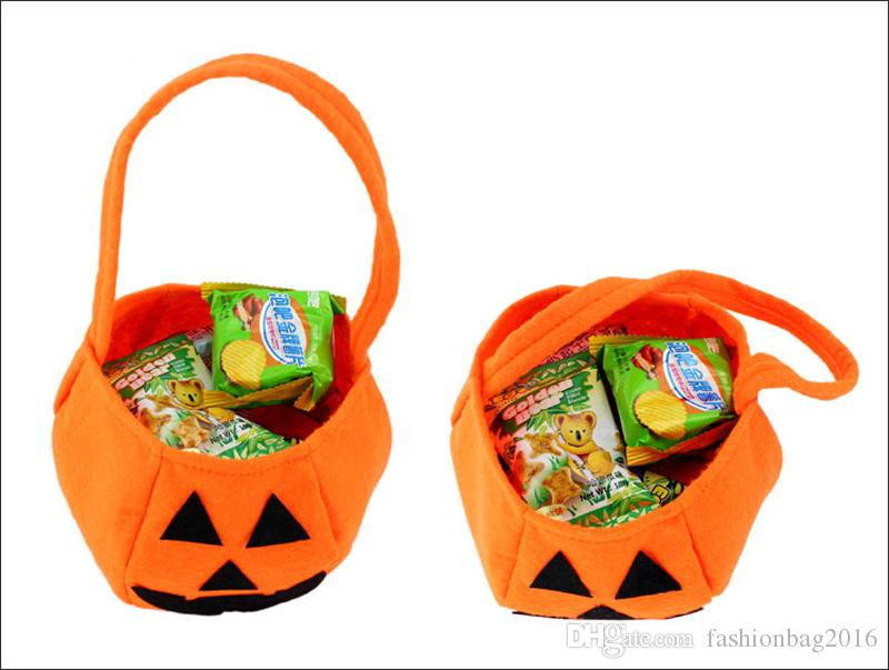 Halloween pumpkin Bag Children Candy Basket Masquerade Party Performance Props Party Supplies