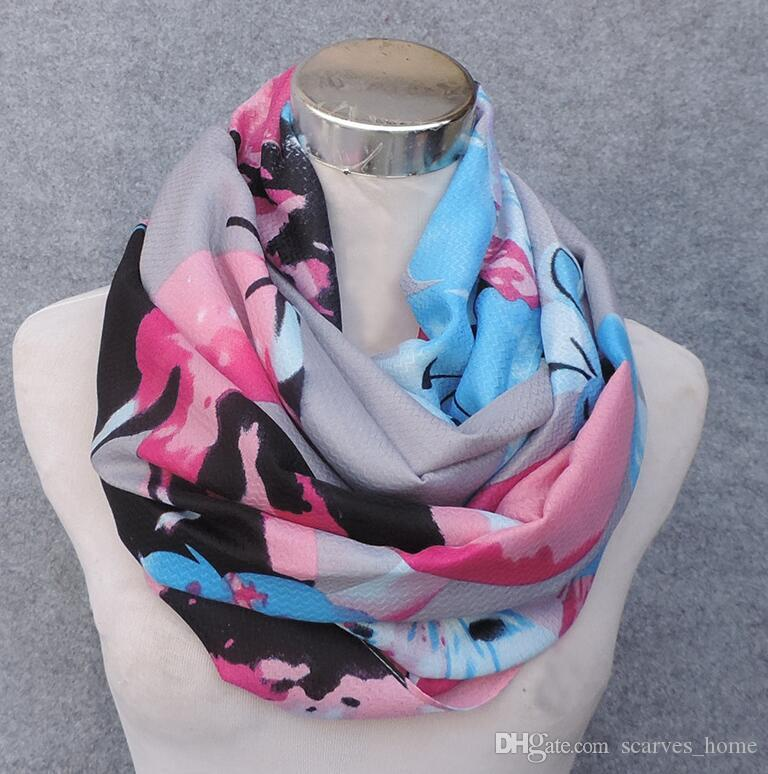 2017 New Meterial High Quality Viscose Scarf Butterfly Flower Print Women's Infinity Scarf Large Size Scarves Fish bone pattern Scarfs
