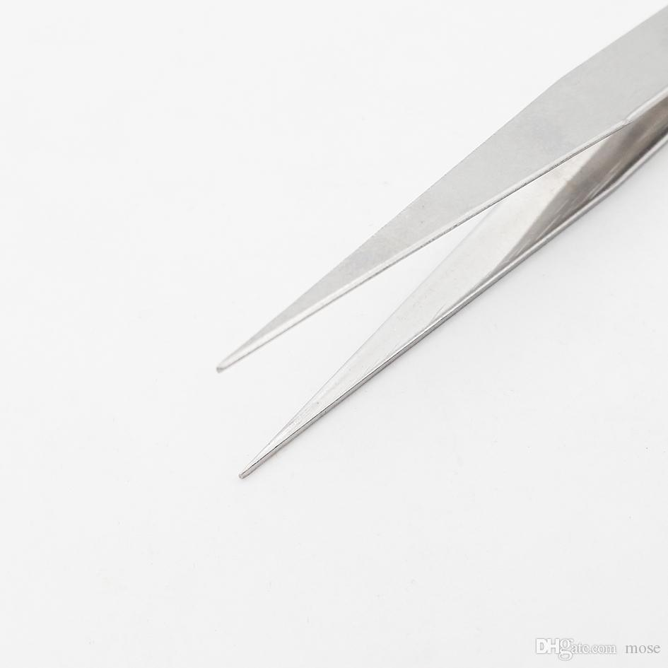 Cheapest Stainless Steel Straight Head / Curved Head Tweezers Nipper for Phone Repairment DIY Repair Tools