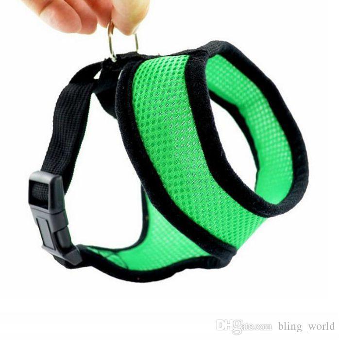Nylon Pet Mesh Harness Soft Net Hund Mini Weste einstellbar atmungsaktiv Puppy Harness Hund liefert 21 Designs
