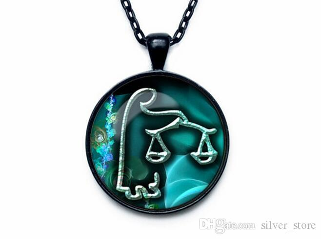 High quality Twelve Seasons Time Gemstone Glass Necklace Pendant Jewelry WFN357 with chain a