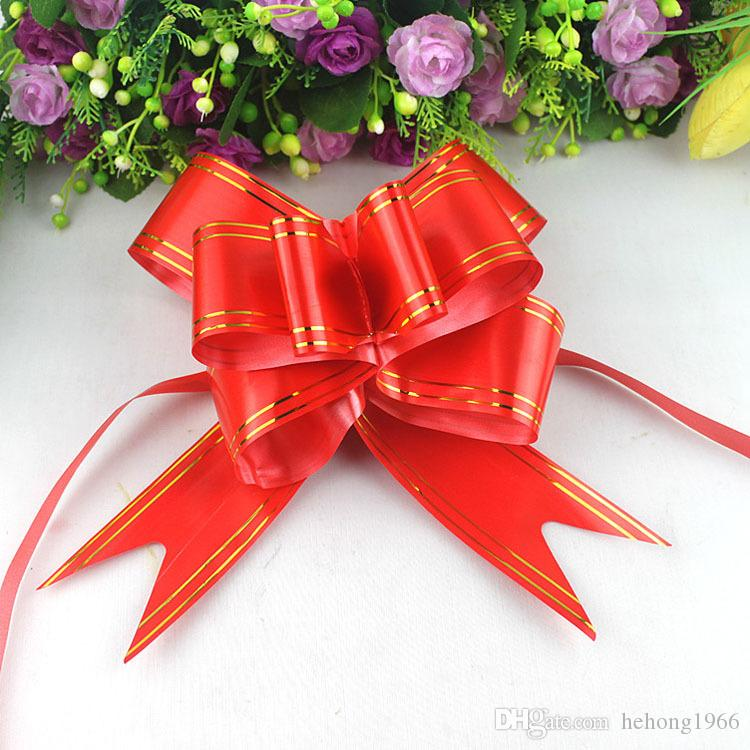 0 11dy Medium Size Bow Tie Hand Pulling Flowers Handlebar Ribbon Wedding Car Pull Flower Bows Gift Wrap For Party Decorate Supplies