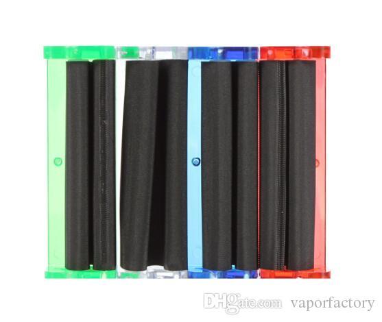 12 pz / lotto spedizione gratuita USA DIY plastica 78mm fumo tabacco rullo erba Making Maker Sigaretta Rolling sigaretta Rolling Paper