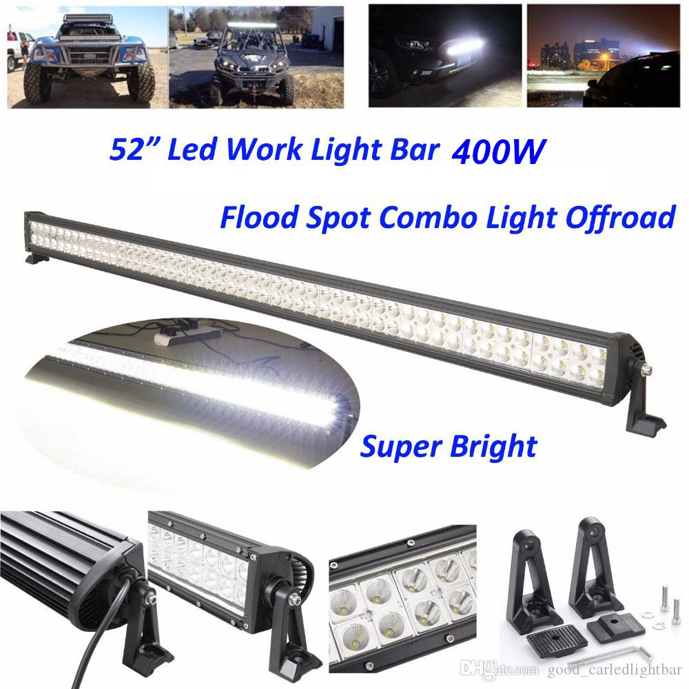 Waterproof led light bar 400w 52 inch flood spot combo working light waterproof led light bar 400w 52 inch flood spot combo working light with mounting bracket driving offroad suv car 4wd boat lamp 10 30v vehicle led mozeypictures Choice Image