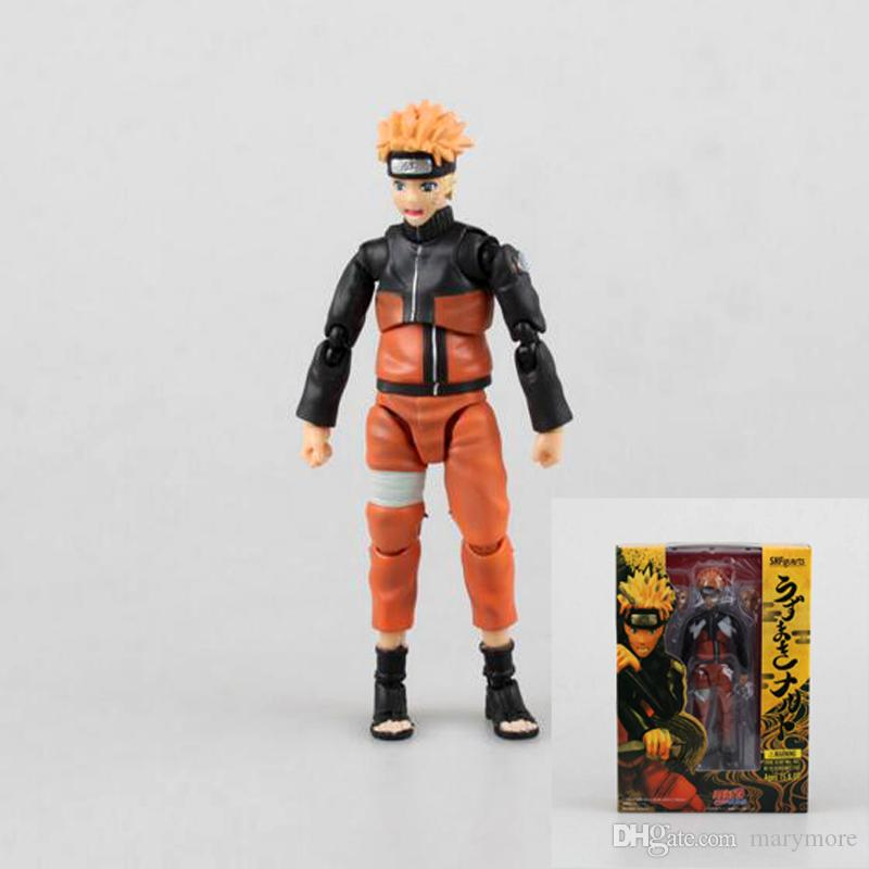 Anime Naruto Action figure modello giapponese figure naruto Sasuke Super mobile 2 stili giocattoli colloquio con scatola 14cm PVC T7003