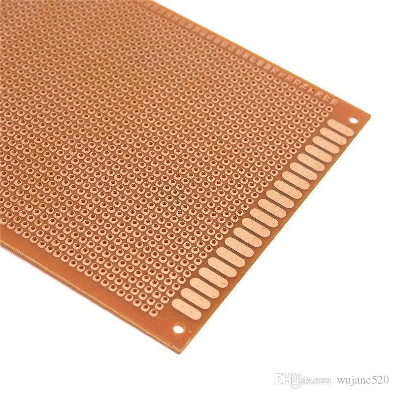 الوحدة الكهربائية 10 سم × 22 سم نموذج واحد الجانب النحاس ورقة PCB الدوائر المطبوعة اختبار لوحة النموذج