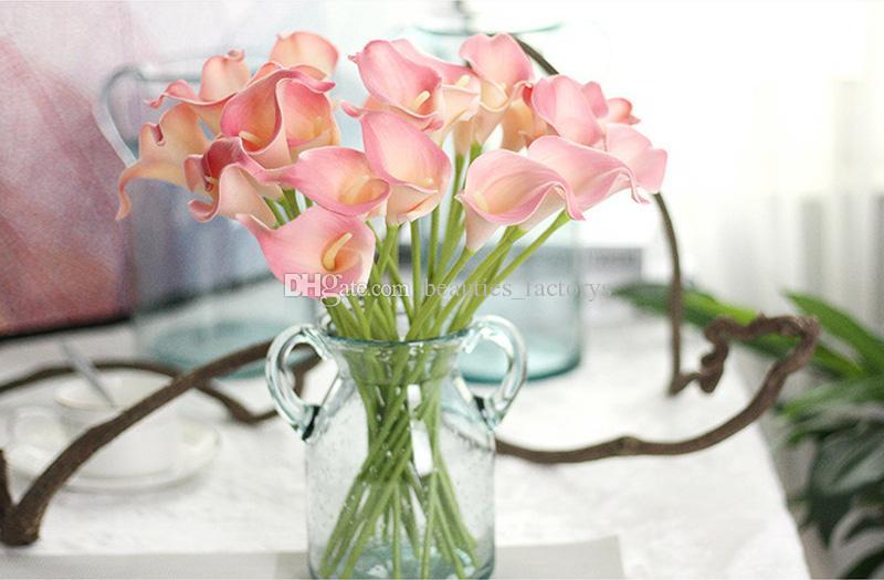 Künstliche Calla Lily Blume 34 cm Hausgarten Dekor Party Gefälschte Blumen Hochzeit Dekorationen 10 Farben für Wahl