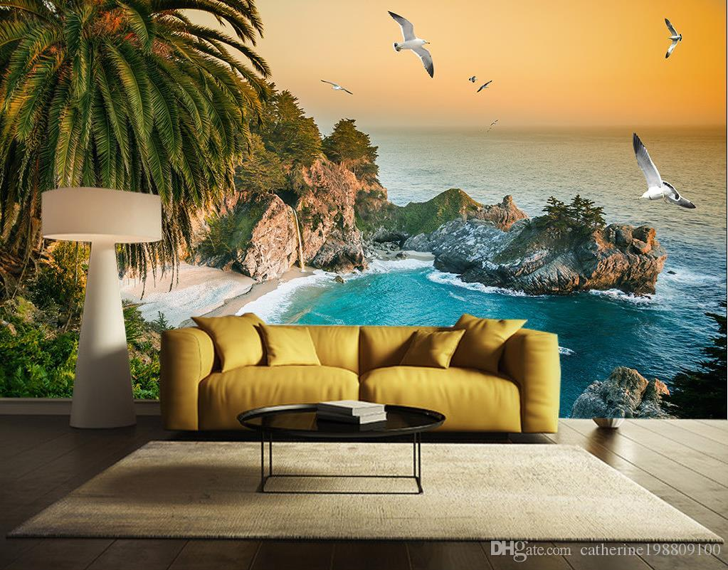 Photo customize size fantastic beauty beautiful sea view - Como decorar paredes ...