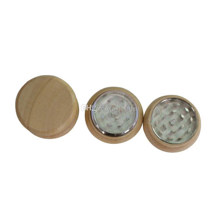 Wood Grinder wooden spice herb handle grinder crusher 55mm 2 parts for smoking grinder smoking pipe supplier