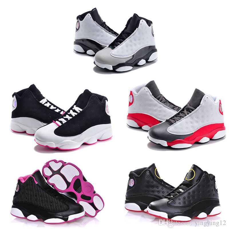low priced 3842c a3bd2 Acheter 2018 13 Enfants Chaussures De Basketball Enfants 13s Haute Qualité  Chaussures De Sport Jeunesse Garçon Fille Basket Baskets À Vendre EU28 35  De ...