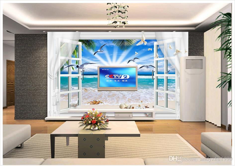 3d Photo Wallpaper Custom Size 3d Wall Murals Outside The Big Beach Picture  Home Decoration Mural Wall 3d Mural Wallpaper Hd Wallpapers Wallpapers Hd  ...
