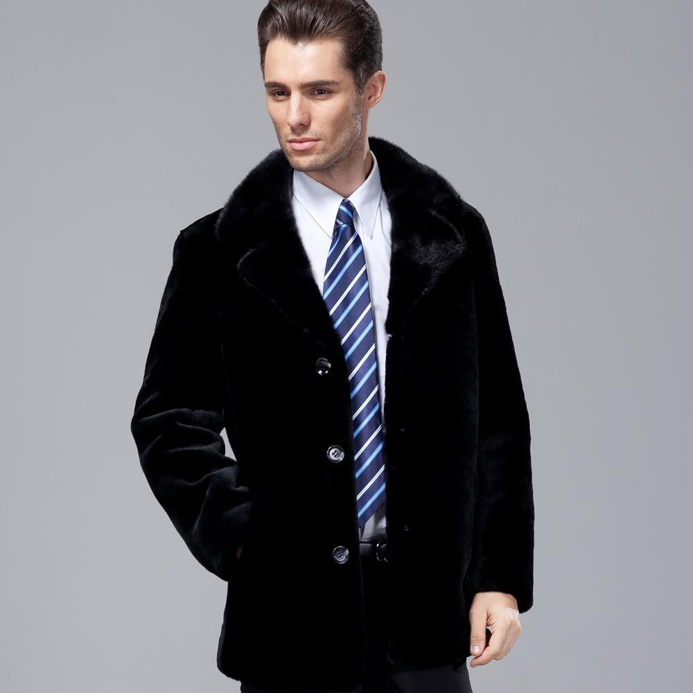 naturale vera pelliccia grande formato doppio petto di pelle di pecora pelliccia modelli del rivestimento della pelliccia cappotto da uomo maschio giacche invernali