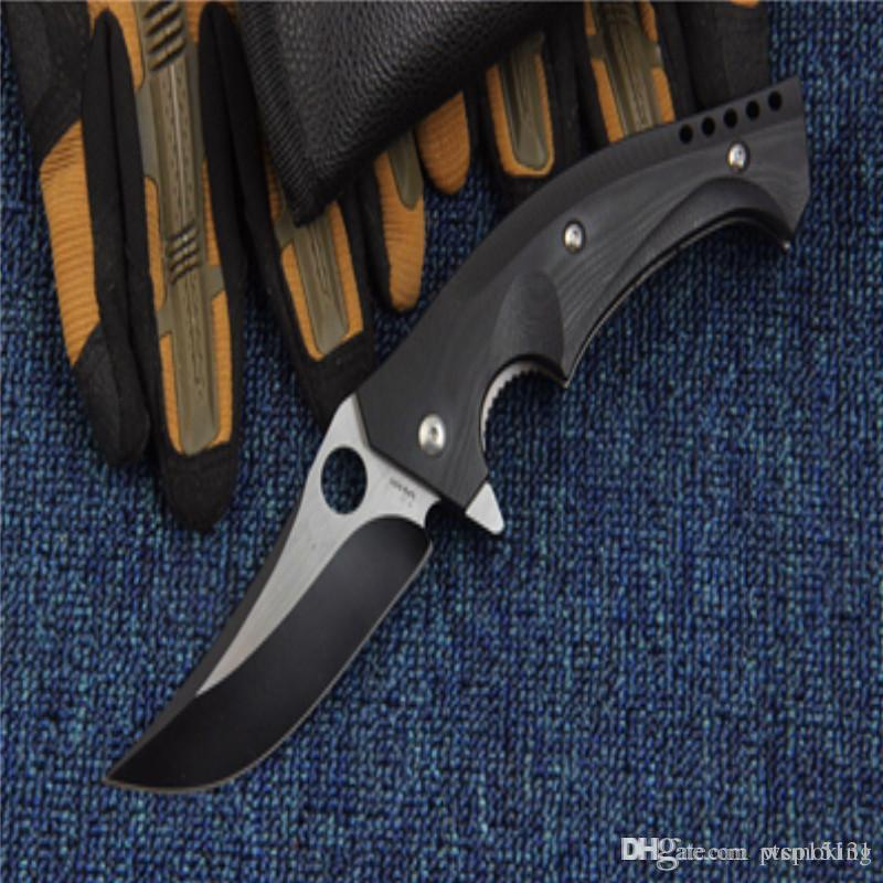 278270e49943 New Hunting Knife Self Defence Tactical Pocket Knife C196 CPM S30V Ball  Bearing System 58 HRC Models Steel Camping Survival Folding Knifes O