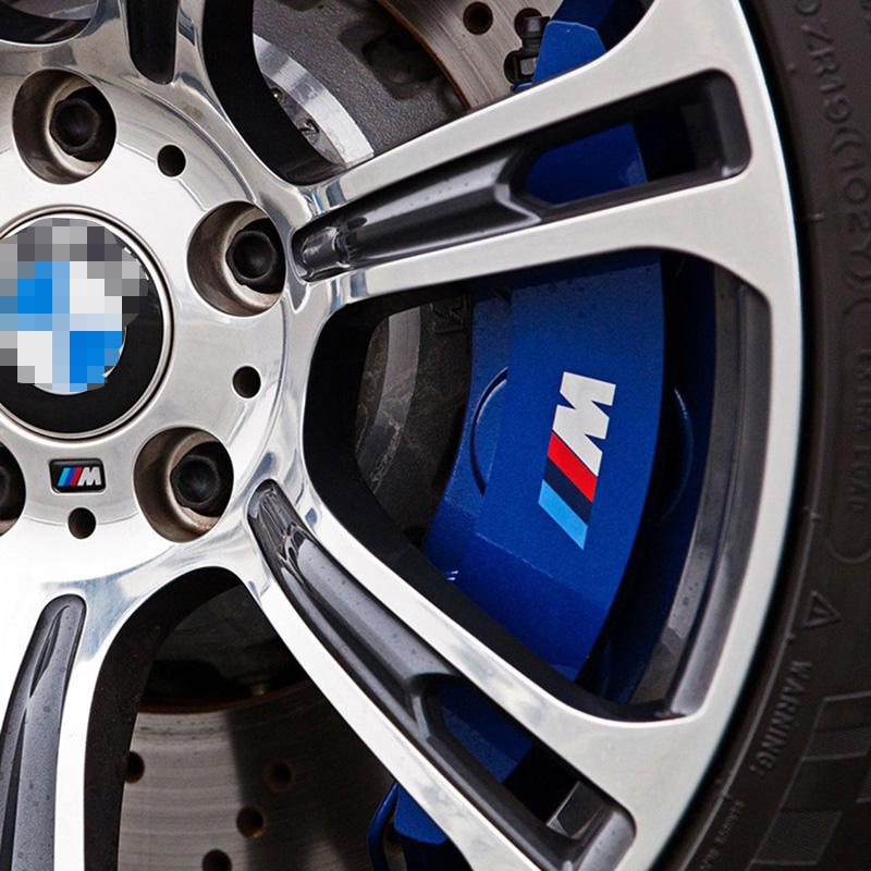 6PCS M Power Performace Brake Caliper Vinyl Decal Stickers M Logo Wheel  Race Trim Sticker For BMW 1 3 5 Series E46 E39 E90 F30 F10 F20