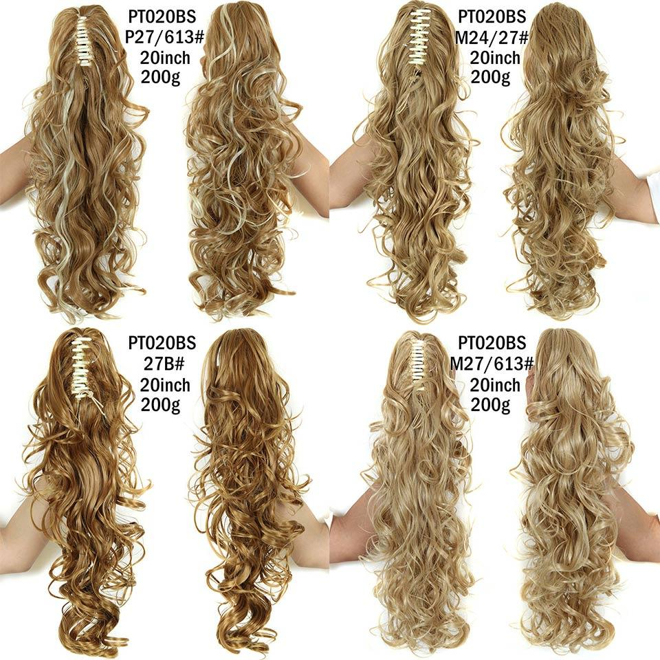Wholesale Curly Ponytail Hairpieces 21 Long Fake Ponytails Claw