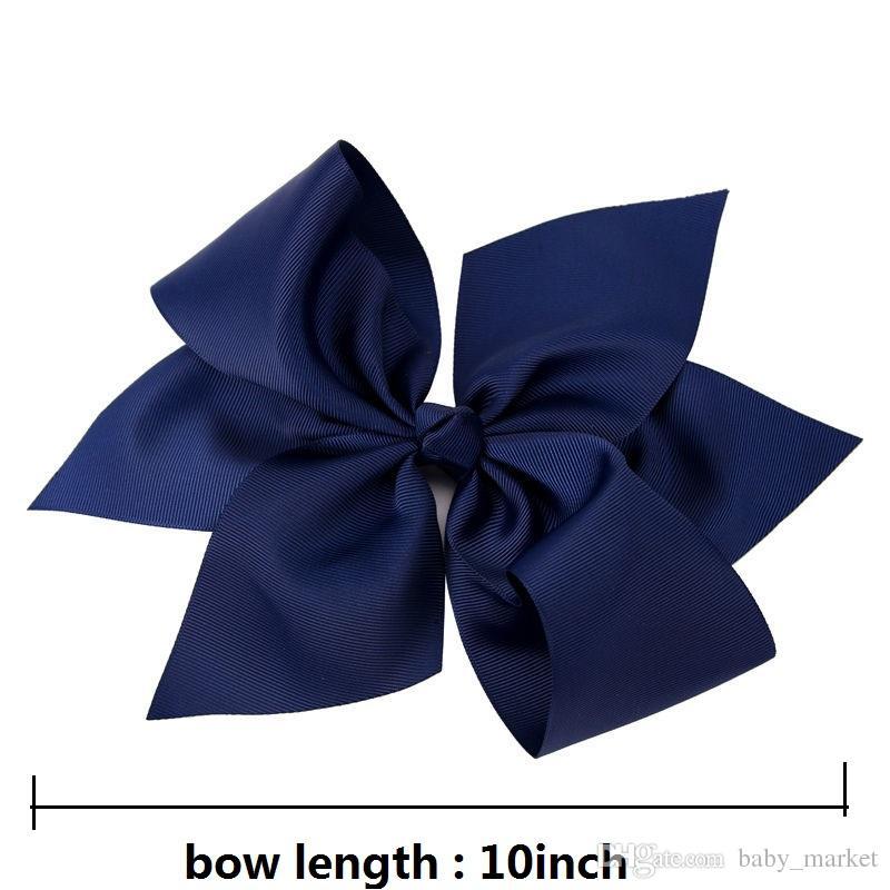 grosses soldes ! 10 pouces Boutique Grosgrain Ribbon Bow Girls Coupes à cheveux Big Bowknot Clip Hair Clip Accessoires 196 Couleurs Disponible! /
