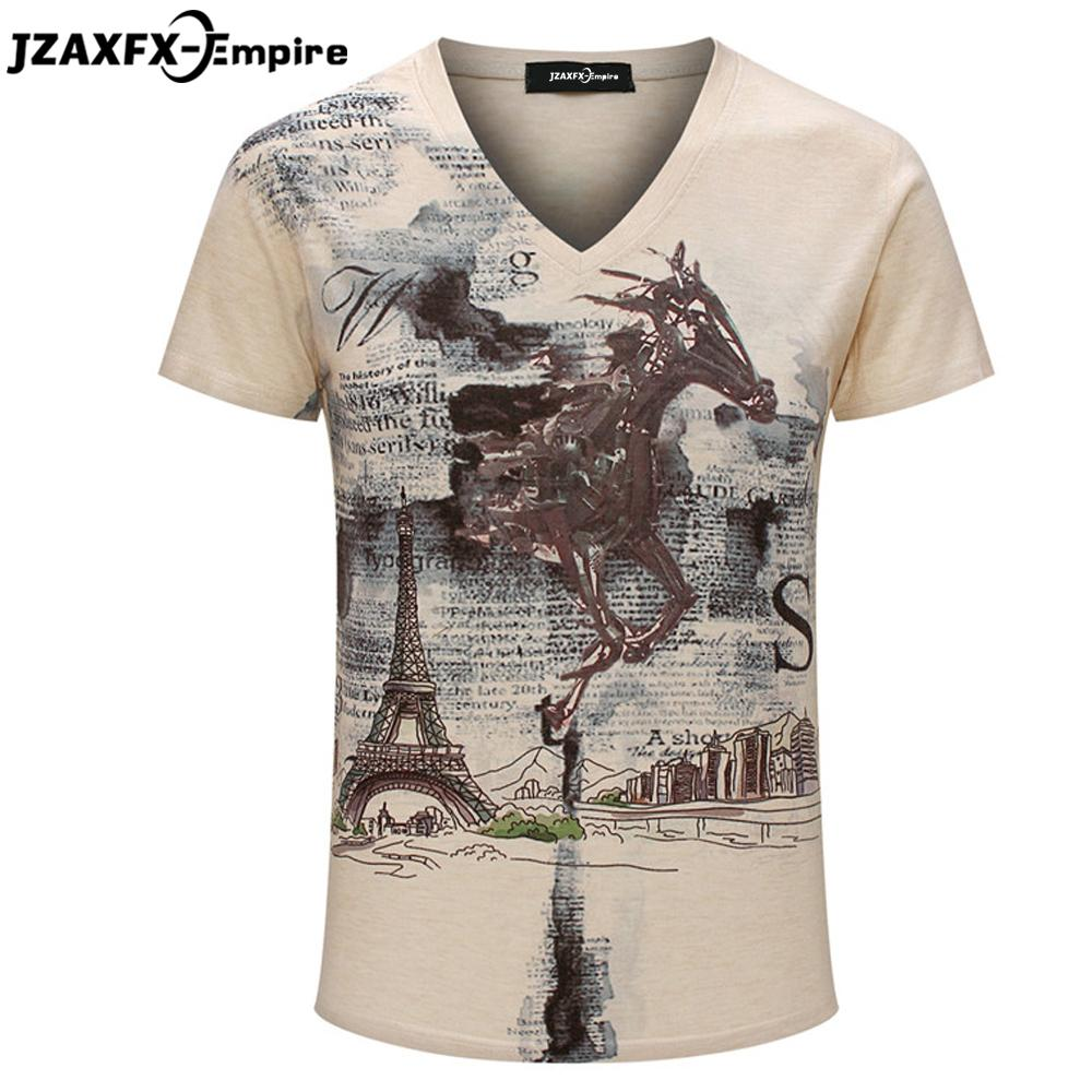 7c0d0f90dda9 Famous Brand T Shirt 2016 Men T Shirt Fashion Pattern V Neck Short Sleeve  Poleras Hombre Summer Fitness Top Tees Mens T Shirts Tee Shirt Designers  Funny ...