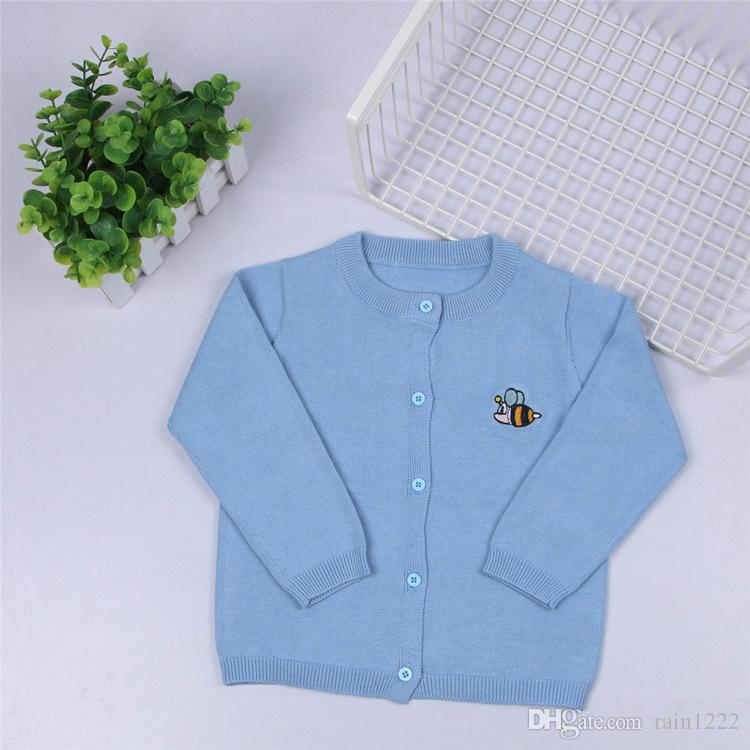 New Girls Kids Knit Sweaters Cardigan Cotton Warm Knitted Coats Knitwear Children Pre-school Knitted Cardigan Sweater 1-6Years Old