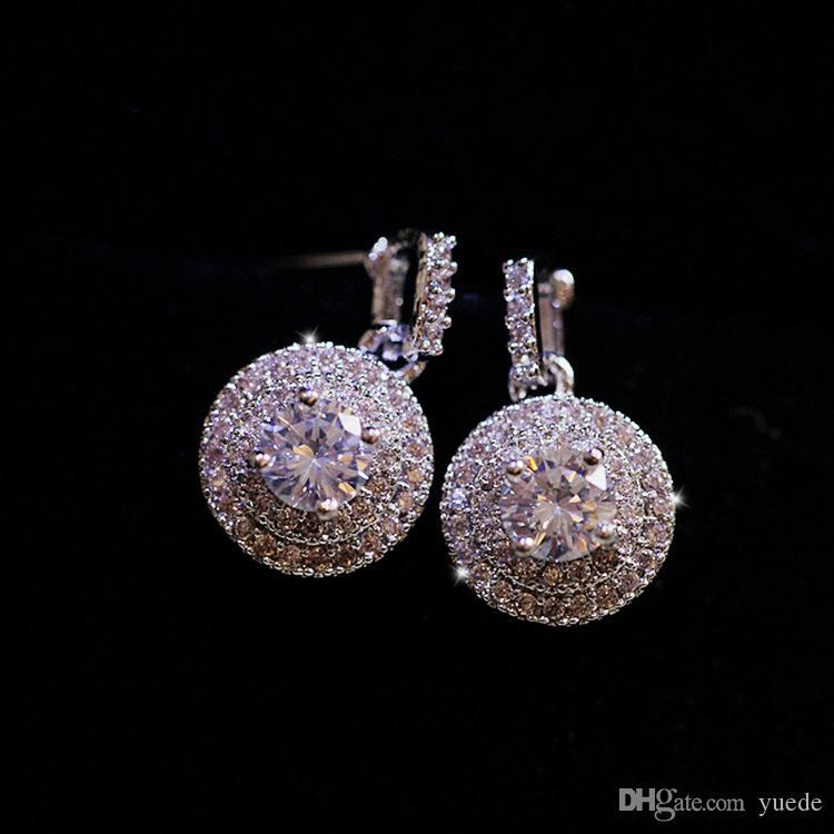 بيع 925 silverCarved أقراط أنثى كريستال من سواروفسكي جديد الأزياء الأقراط الكلاسيكية الرجعية الصغيرة مجموعة المجوهرات الساخنة