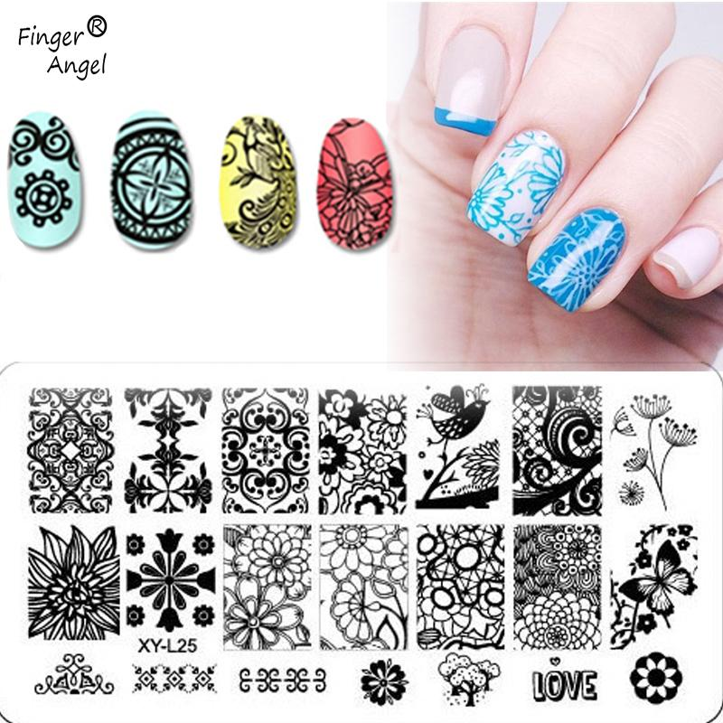 2018 Nail Art Stamping Plates Hot Sale Mixed Design Stamp Image Nail ...