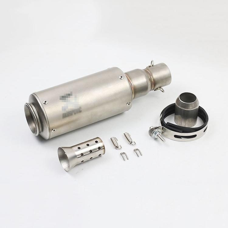 Stainless Steel 51MM Motorcycle Exhaust Silencer Pipe With DB Killer Slip On Dirt Street Bike Motorcycle Modified Scooter