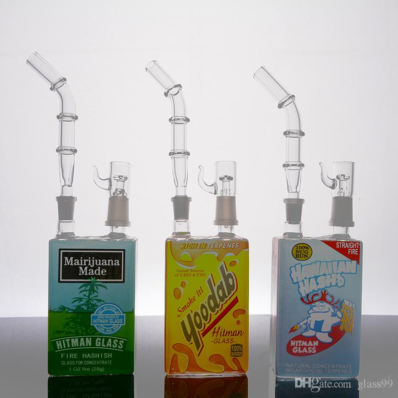 Yeni varış hitman Mini Sıvı cam bongs Tahıl Kutusu yağ Rig kubbe ve tırnak ile 14mm eklem