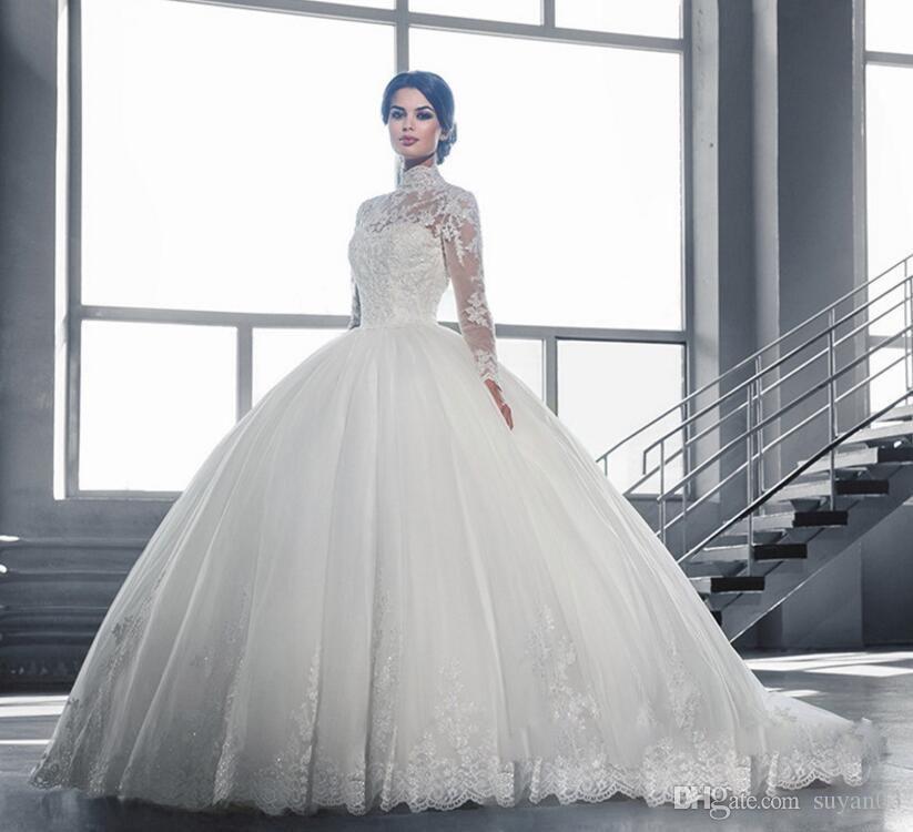 New Fashion Long Sleeves Wedding Dresses 2017 Vestios De Novia ... 8d66c705b1dd