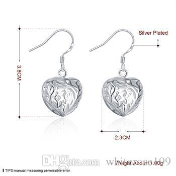 Wholesale - lowest price Christmas gift 925 Sterling Silver Fashion Earrings E075