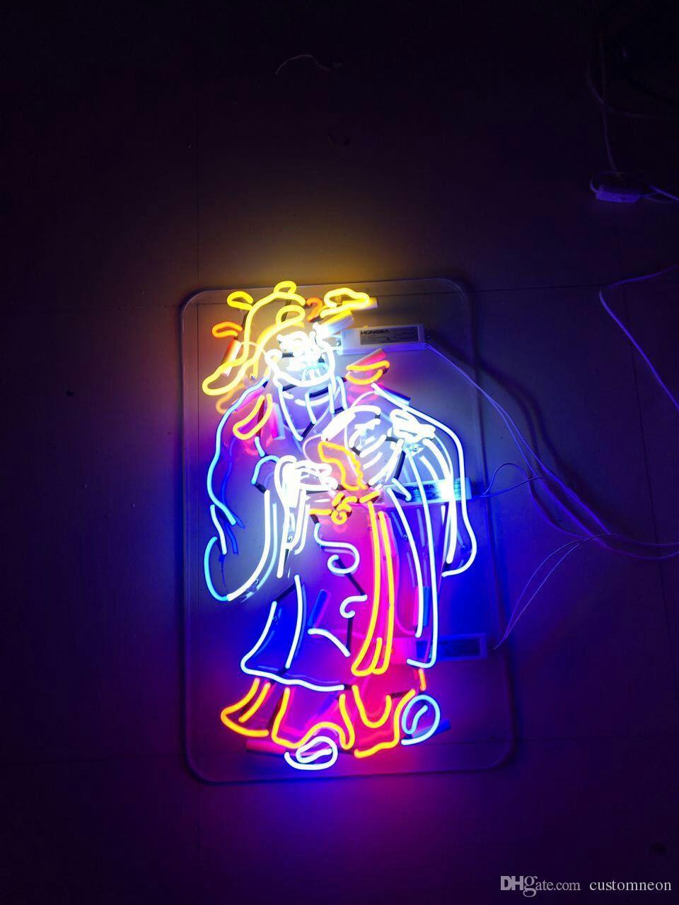 2017 God Of Wealth Mammon Real Glass Neon Light Sign Art Home Beer Bar Pub Sign Custom Wall ...