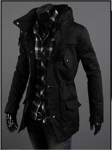 траншею пальто Бесплатная доставка Мужская Длинные пальто высокого качества Смесь плеча Trench талии С шнурок